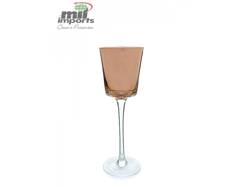 Castiçal de Vidro Bronze P (20CM)