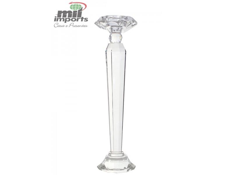 Castiçal Slim Cristal G