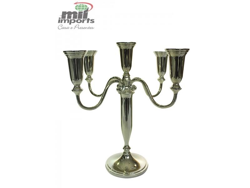 Candelabro de Metal para 5 velas