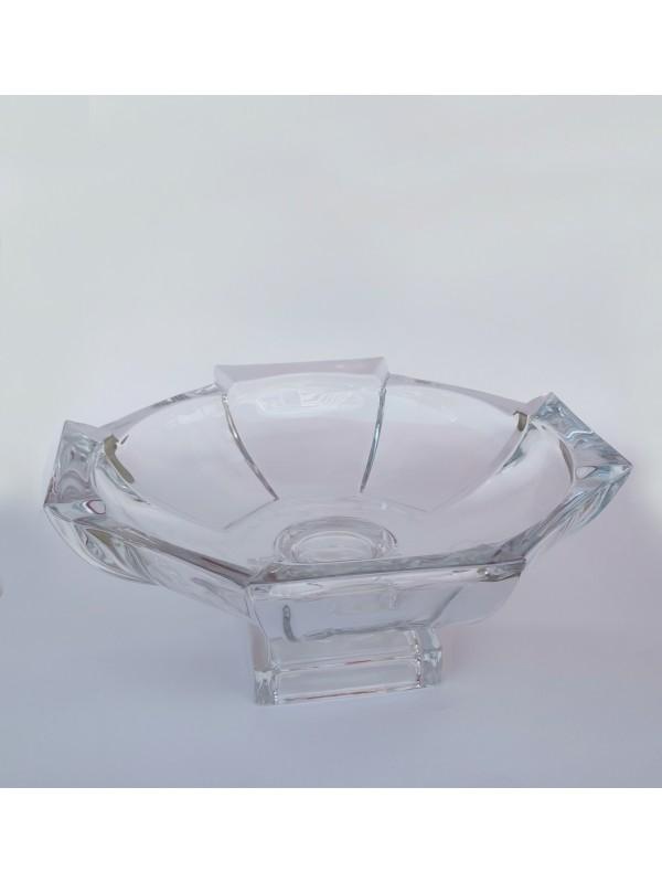 Tigela palco com pé decor vidro