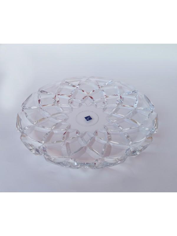 Prato grande luxuoso em vidro