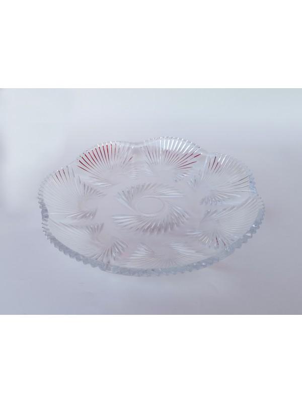 Prato grande decorativo  de vidro luxo