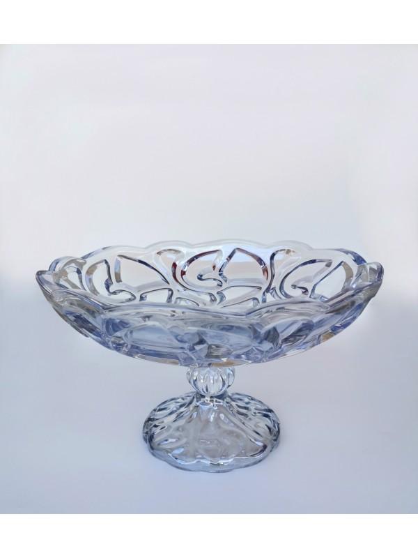 Centro de mesa com pé decor vidro