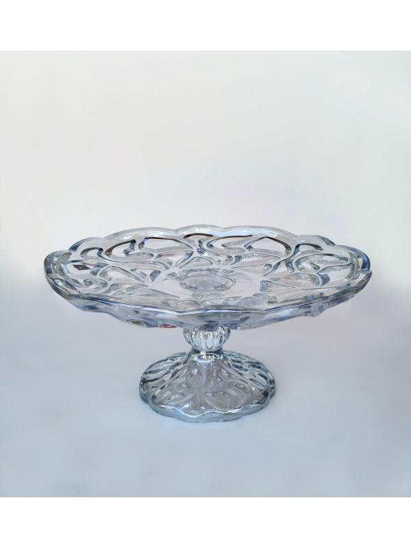 Prato com pé decor vidro