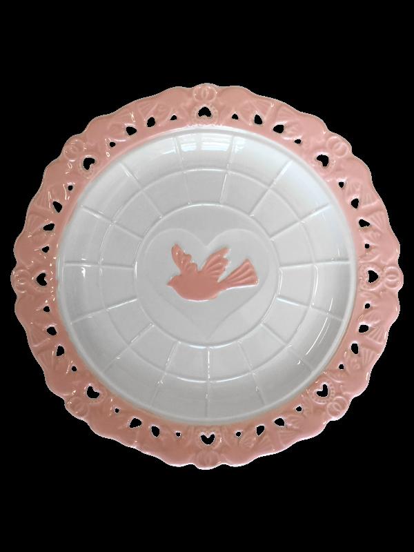 Prato Decorativo em cerâmica - Linha Glaze