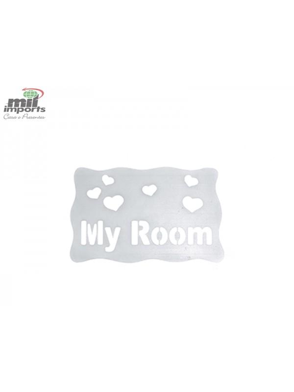 PLACA EM PVC MY ROOM